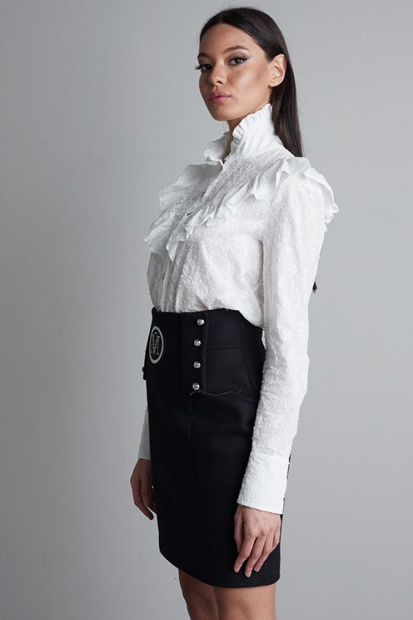 Camisa canesú algodón bordado