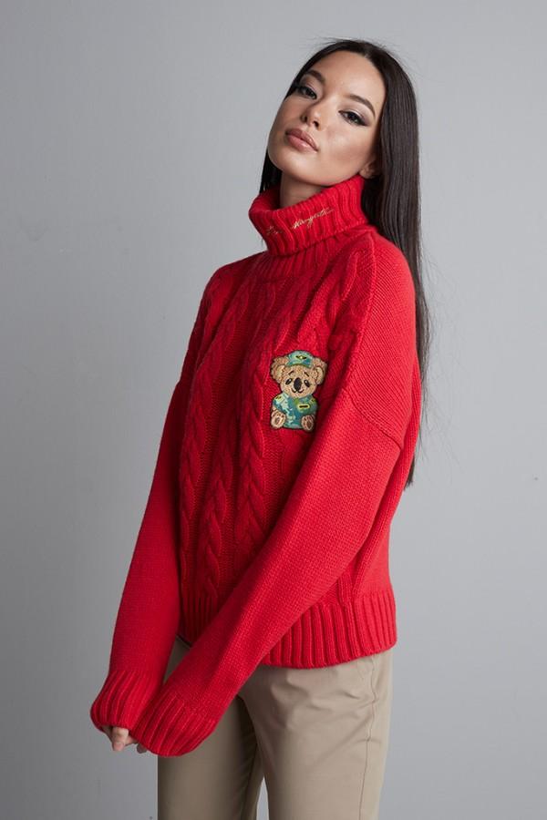 Jersey ochos cuello alto Rojo
