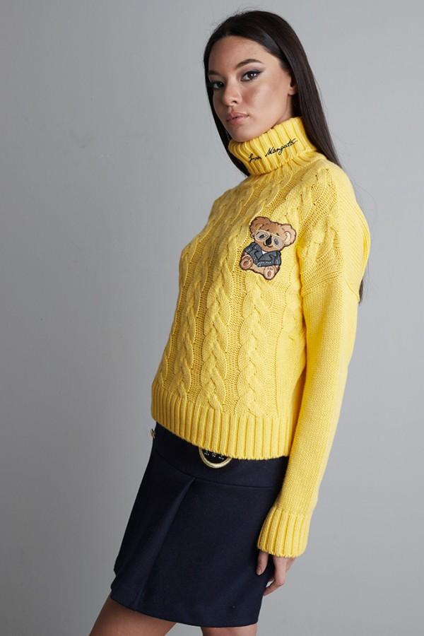 Jersey ochos cuello alto Amarillo
