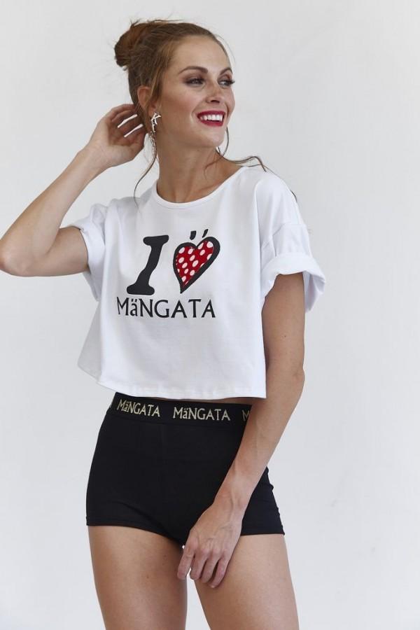 CAMISETA CORTA I LOVE MANGATA