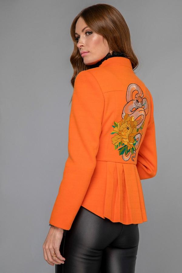 Chaqueta lana naranja