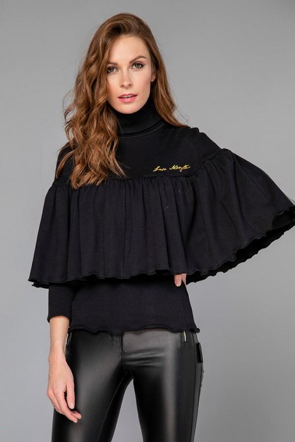 Jersey capa canalé negro