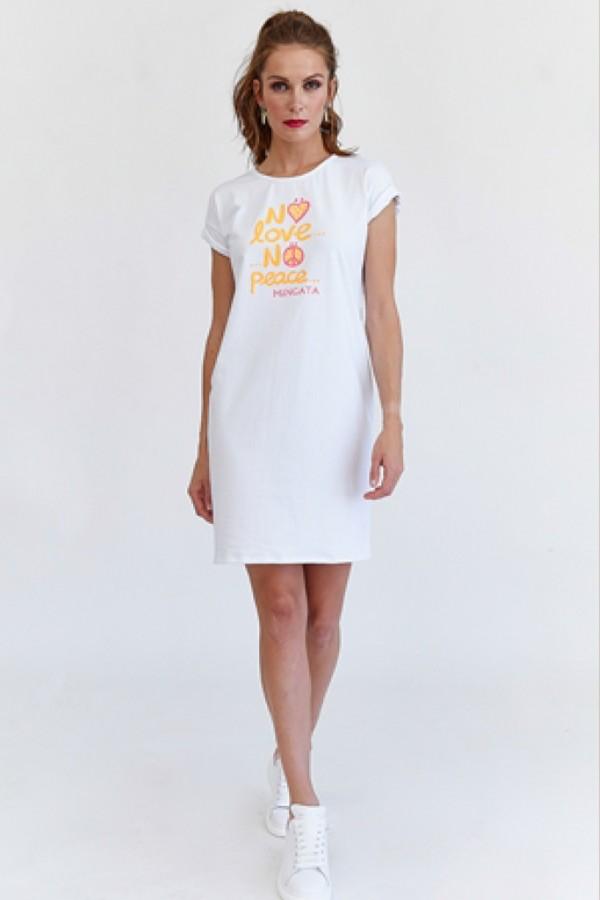 Vestido blanco NO LOVE
